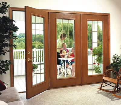 Pin sliding patio door window treatmentsjpg on pinterest for Triple french doors exterior